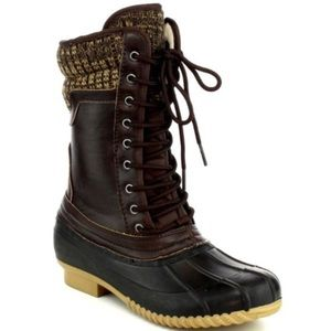 Shoes - Waterproof Lace Up Duck Boots